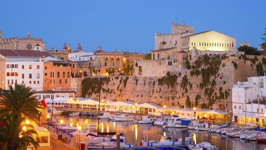 Ciutadella's Historic Harbour At Dusk