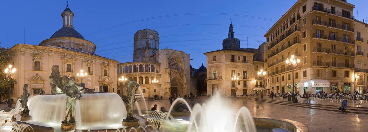 Historic Valencia At Night