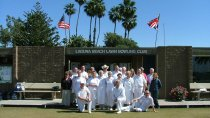 A group outside the Laguna beach bowling club