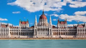 Hungarian Parliament BuildingHungarian Parliament buildings in brilliant sunshine