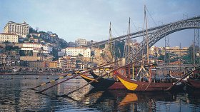 Port Wine Barges On The Douro In Oporto