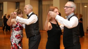 Two couples sequence dancing